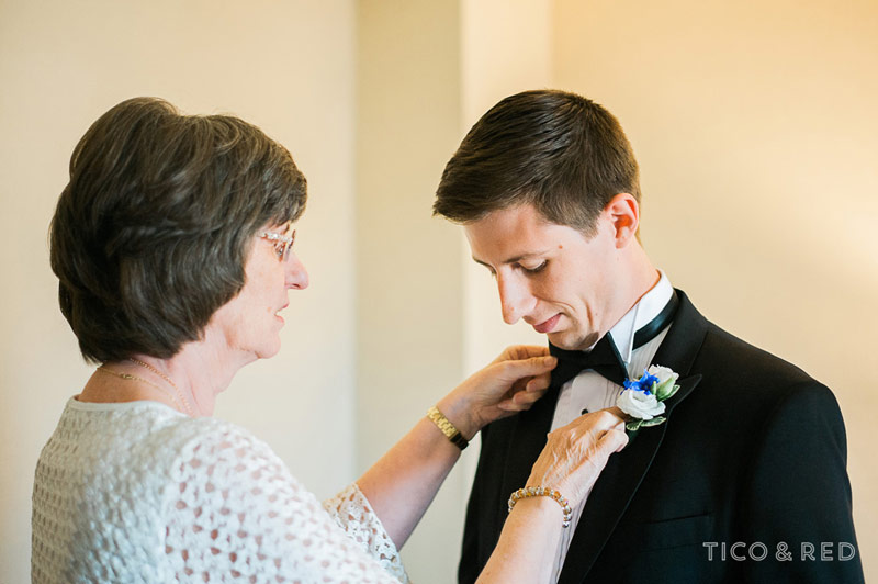 Groom and his mom get ready at the Biltmore